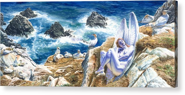 Women Acrylic Print featuring the painting At Rest by Ken Meyer jr