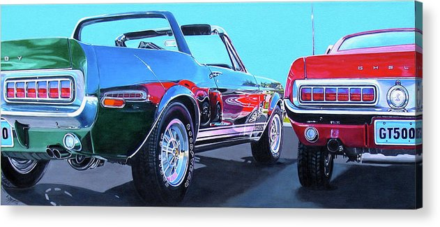 Car Acrylic Print featuring the painting Muscle Control by Lynn Masters