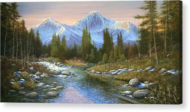 Landscape Acrylic Print featuring the painting 100807-3060 Seasons Change by Kenneth Shanika