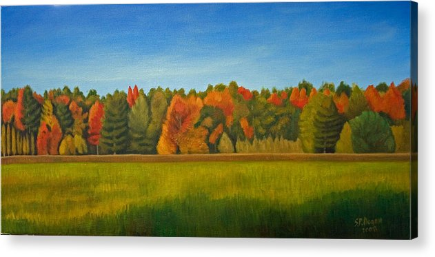 Landscape Acrylic Print featuring the painting Essex Junction Vermont by Stephen Degan