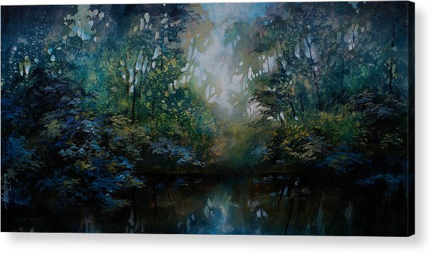 Original Landscape Painting Acrylic Print featuring the painting Landscape 2 by Michael Lang