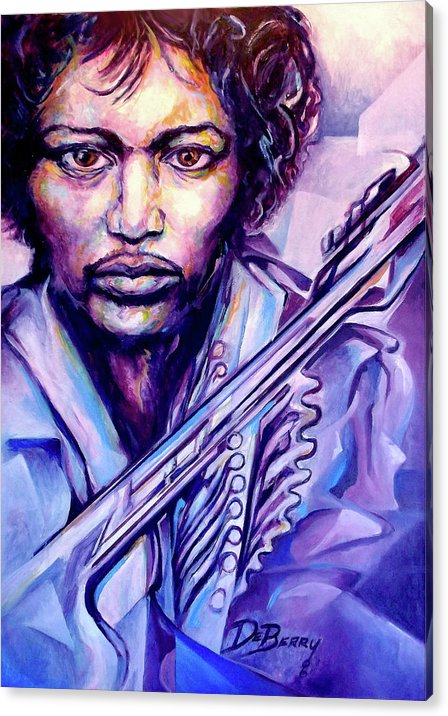 Acrylic Print featuring the painting Jimi by Lloyd DeBerry