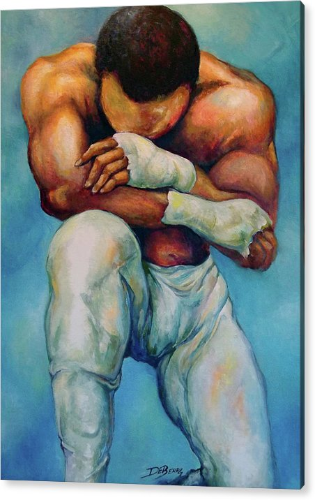 Michael Acrylic Print featuring the painting Michael The Print by Lloyd DeBerry