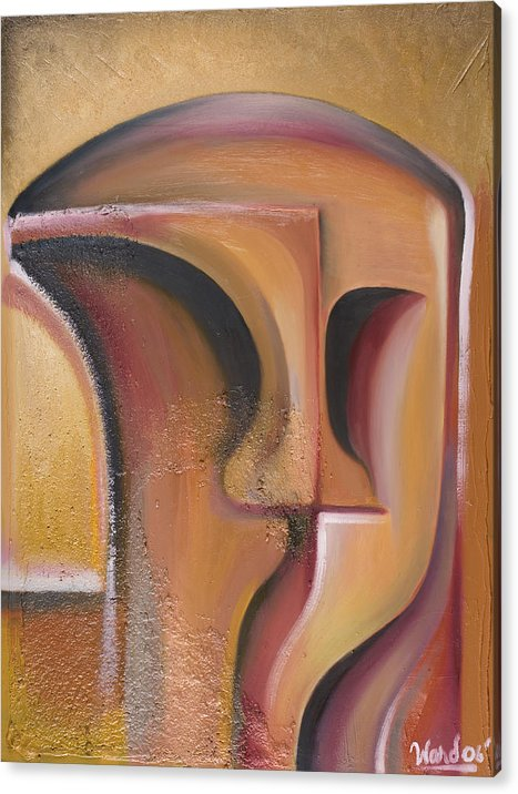 Fine Art Acrylic Print featuring the painting The Kiss by Shawn Ward