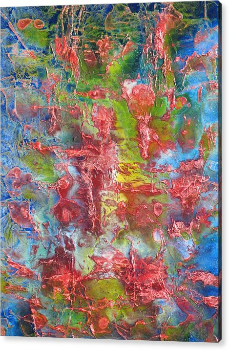 Abstract Acrylic Print featuring the painting Happiness And Joy by Walter Mead