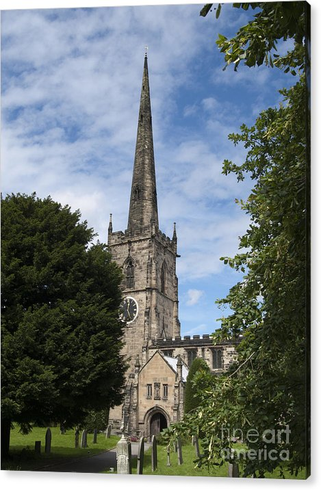 Church Acrylic Print featuring the photograph Repton Church by Steev Stamford