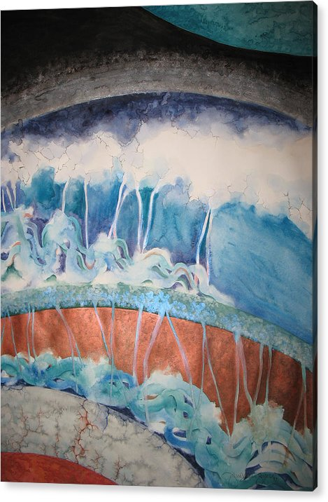 Watercolor Acrylic Print featuring the painting Strata - 7 by Caron Sloan Zuger