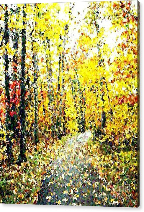 Fallscape Acrylic Print featuring the painting Fallen Leaves Of Autumn by Don Phillips