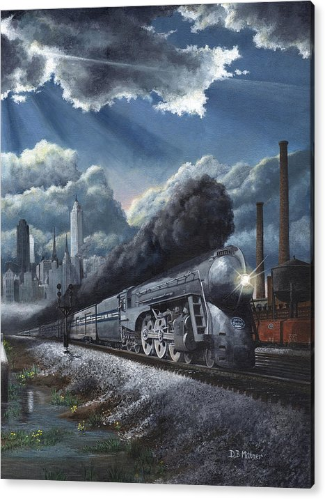 Train Acrylic Print featuring the painting Eastbound Twentieth Century Limited by David Mittner