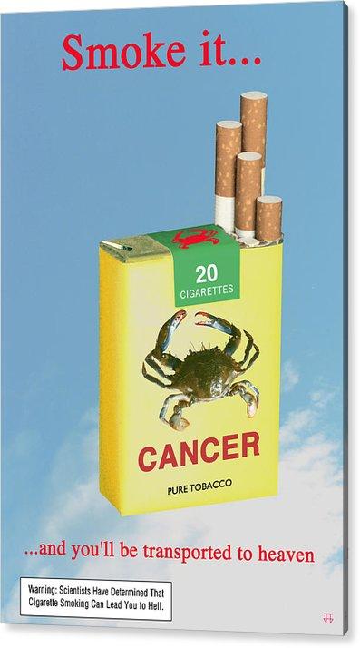 Anti-smoking Posters Acrylic Print featuring the digital art Smoke It... by Jose Gomis
