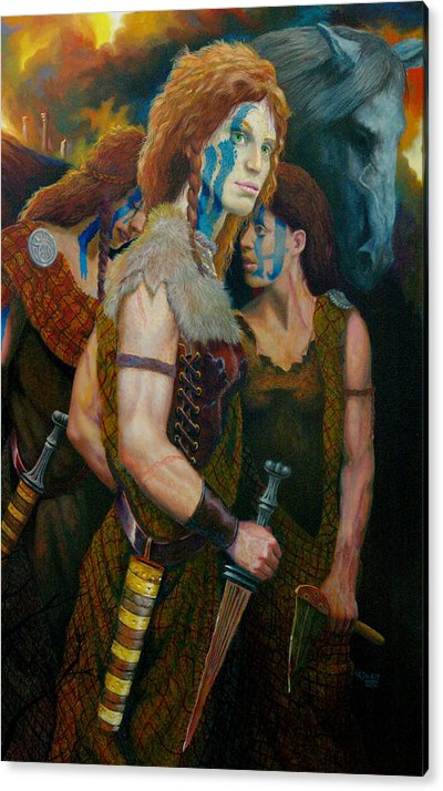 Historic Women Of Briton Acrylic Print featuring the painting Boudica by RC Bailey