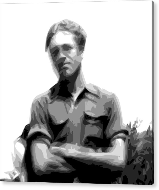 Altered Photo Acrylic Print featuring the digital art Jim 1952 by Donald Burroughs