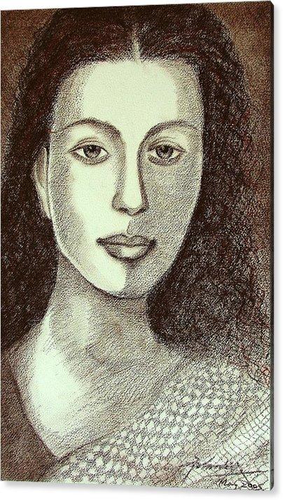 Figurative Acrylic Print featuring the drawing Untitled by Padmakar Kappagantula