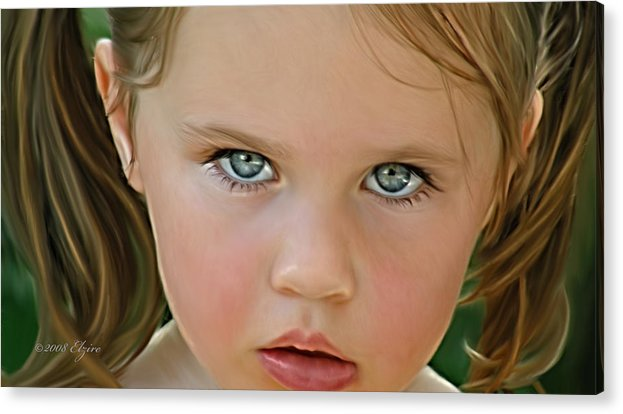 Acrylic Print featuring the painting Those Eyes by Elzire S