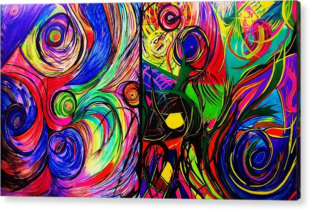 Art Acrylic Print featuring the painting Scribble by HollyWood Creation By linda zanini