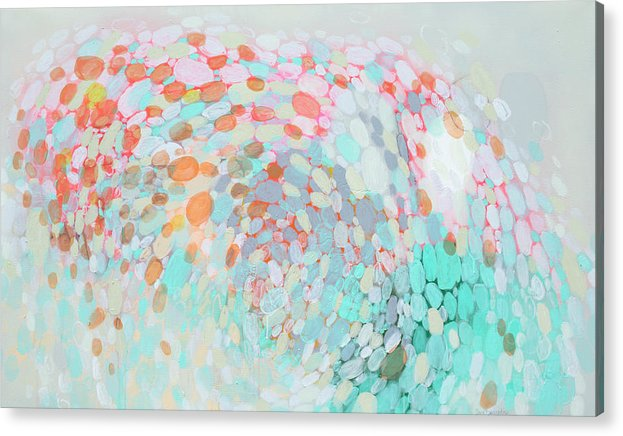 Abstract Acrylic Print featuring the painting Want To Go by Claire Desjardins