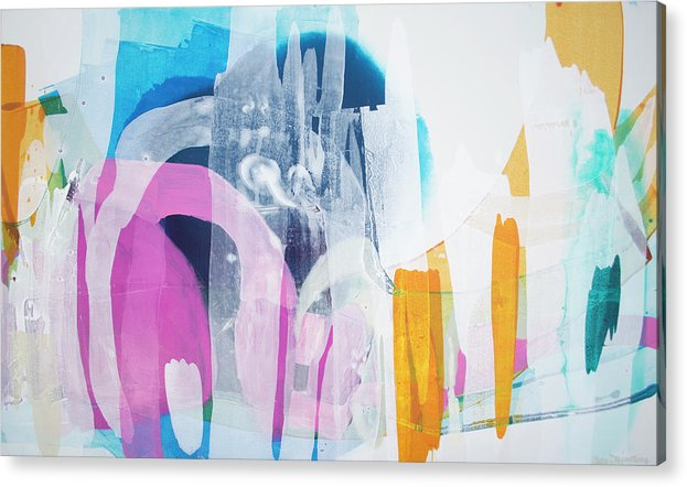 Abstract Acrylic Print featuring the painting Icing On The Cake by Claire Desjardins