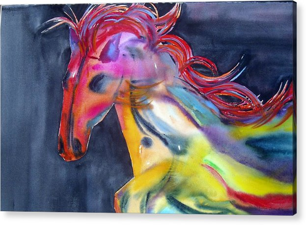 Horse Acrylic Print featuring the painting Americano by Maritza Bermudez