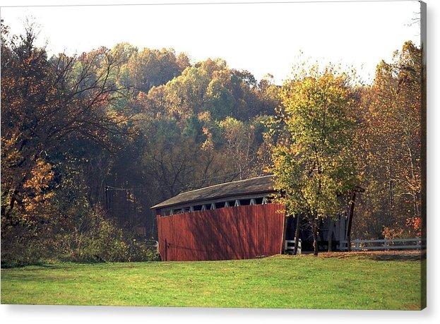 Bridge Acrylic Print featuring the photograph 090607-2 by Mike Davis