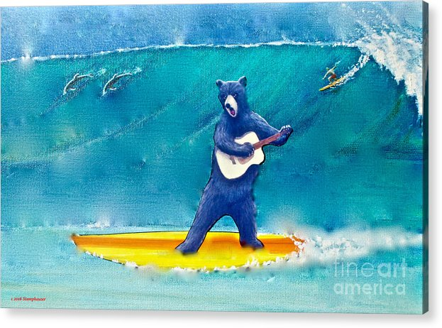The Surfing Bear by Jerome Stumphauzer