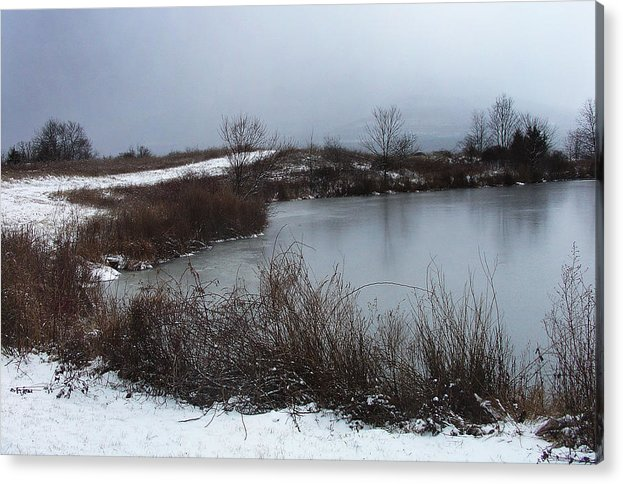 Greene County Greeting Cards Acrylic Print featuring the photograph A New Dusting Falling Onto The Valley by Terrance DePietro
