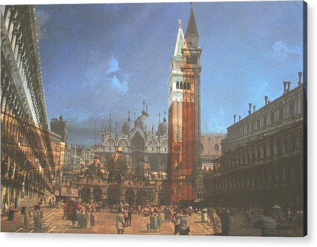 Landscape Acrylic Print featuring the painting After St. Mark's Square by Hyper - Canaletto