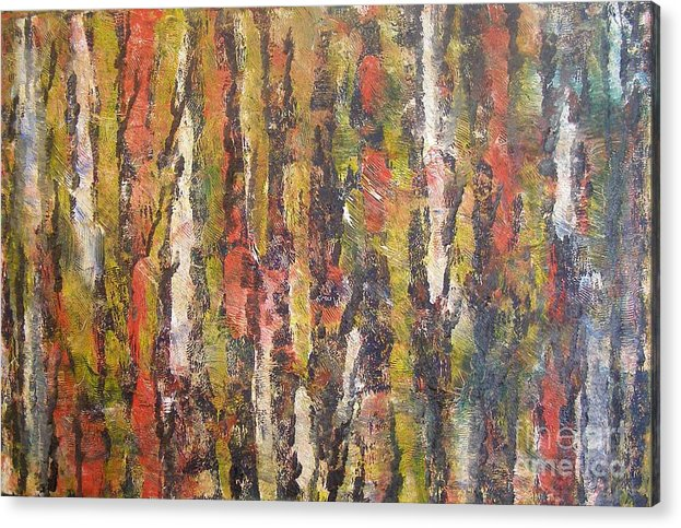 Landscape Of Trees Acrylic Print featuring the painting Autumn Trees by Don Phillips