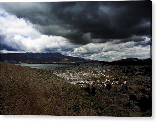 Landscape Acrylic Print featuring the photograph Lake Elsinore Waiting by Richard Gordon