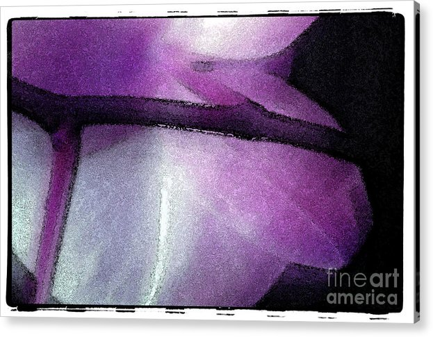 Nature Acrylic Print featuring the digital art Purple Orchid by Michael Ziegler