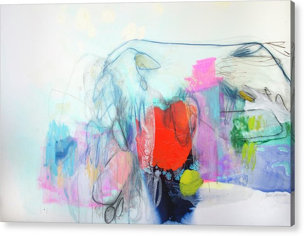 Abstract Acrylic Print featuring the painting Whisper by Claire Desjardins