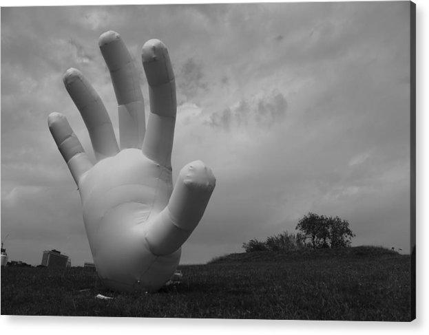Hand Acrylic Print featuring the photograph Balloon Hand by Nina Mirhabibi