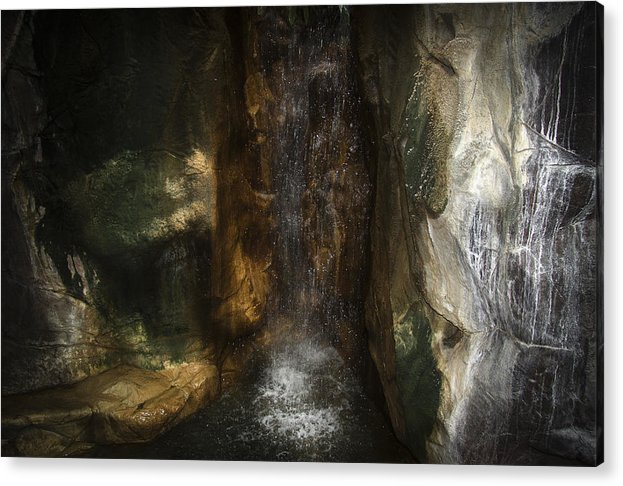 Mood Acrylic Print featuring the photograph Under The Falls by Rupert Mcgrath
