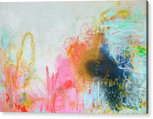 Abstract Acrylic Print featuring the painting Afternoon Snooze by Claire Desjardins