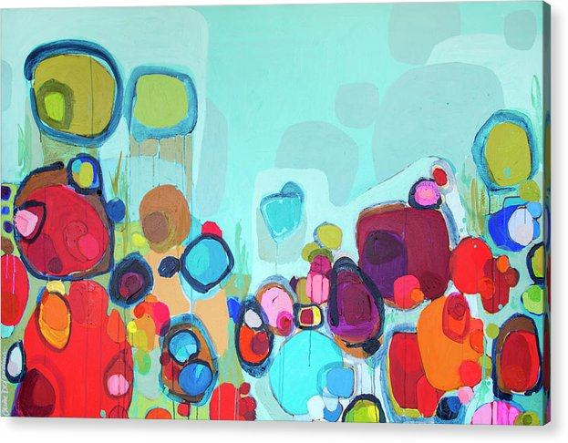Abstract Acrylic Print featuring the painting Always Will Be by Claire Desjardins