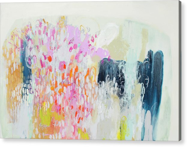 Abstract Acrylic Print featuring the painting Fizz by Claire Desjardins
