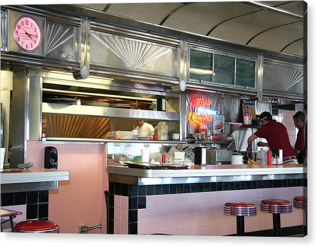 Acrylic Print featuring the painting Haledon Diner by Randy Ford