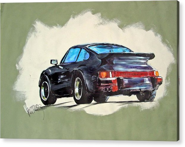 Auto Acrylic Print featuring the painting Carrera by Paul Miller