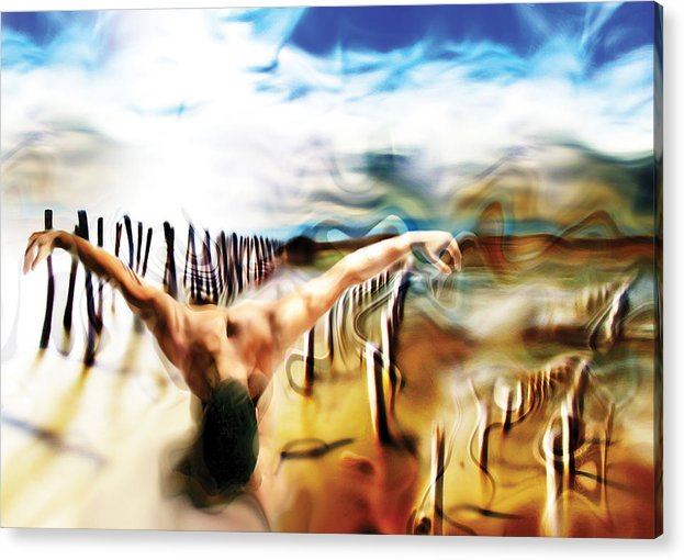 People Birth Symbolism Acrylic Print featuring the painting Birth by Naikos N