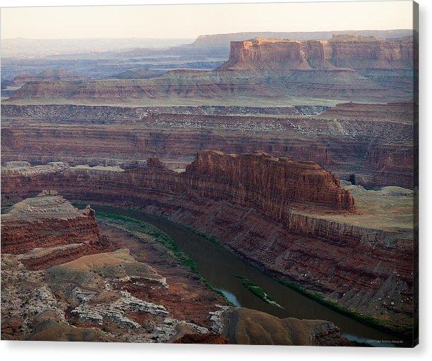 U.s.a. Acrylic Print featuring the photograph Dead Horse Point by Luigi Barbano BARBANO LLC