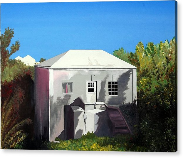 Island Scenes Acrylic Print featuring the painting Uncle Leons House by Caleb Bynum