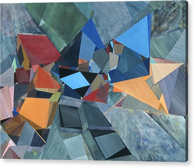 Abstract Acrylic Print featuring the painting Organic/geometric #20 by Elissa Voland
