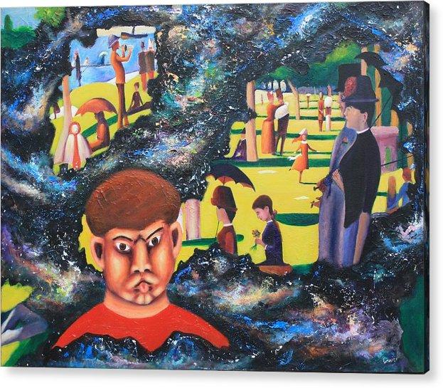 Quantum Acrylic Print featuring the painting Quantum Quasimodo by Art Enrico