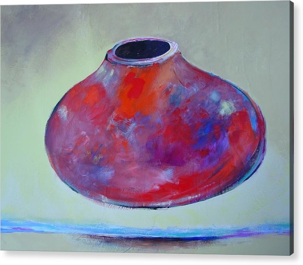 Still Life Acrylic Print featuring the painting Floating Pot by Paul Miller