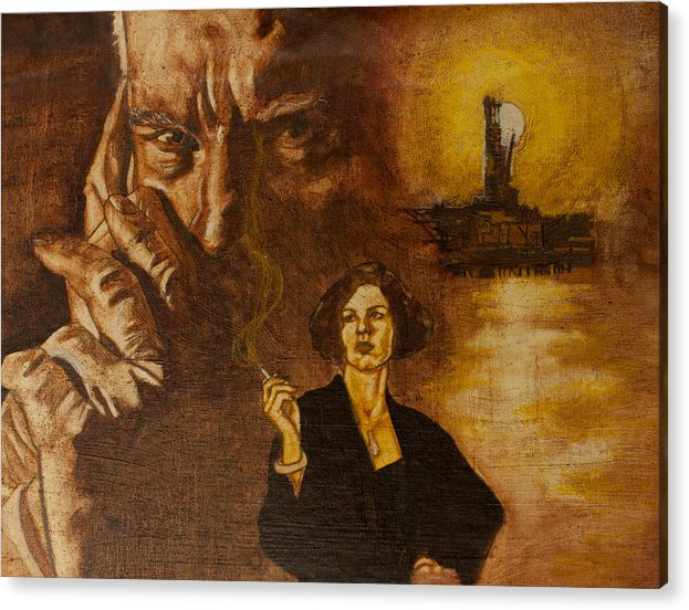 Oil Paint Acrylic Print featuring the painting An Inconvenient Intrigue by Michael Facey