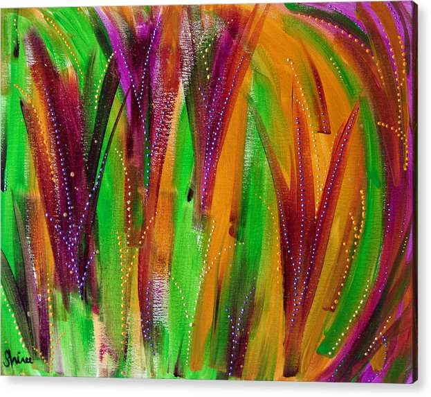 Acrylic Paintings Acrylic Print featuring the painting Mardi Gras by Shiree Gilmore