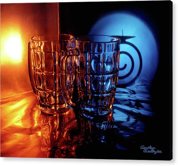 Coffe Cups Acrylic Print featuring the photograph Day And Night by Gautam Chatterjee