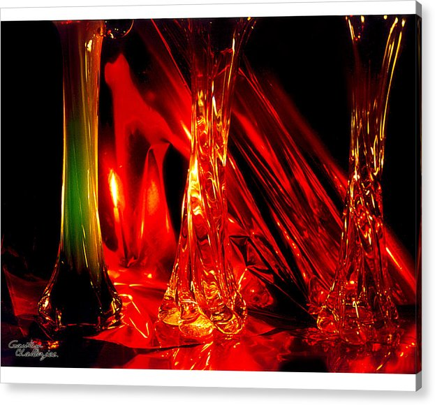 Red Acrylic Print featuring the photograph Illusion Of Colours by Gautam Chatterjee