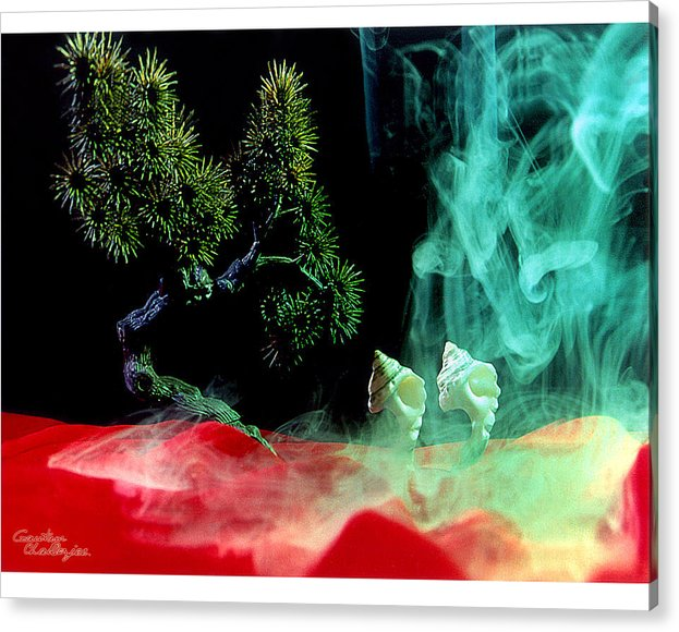 Smoke Acrylic Print featuring the photograph Smoke In My Mind - 4 by Gautam Chatterjee