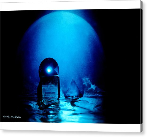 Blue Acrylic Print featuring the photograph The Space Life by Gautam Chatterjee