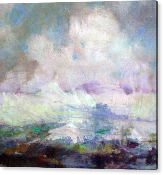 Abstract Acrylic Print featuring the painting Seascape-untitled by Marilyn Muller